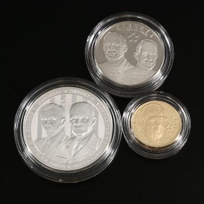 2013 5-Star Generals U.S. Mint Commemorative 3-Coin Proof Set