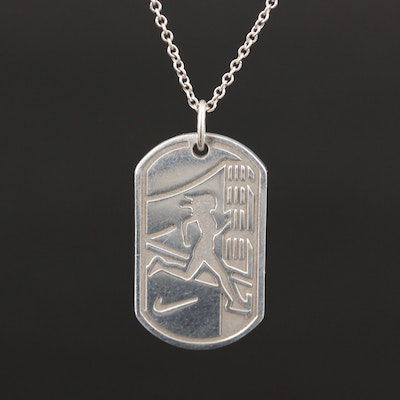 Tiffany & Co. For Nike Sterling Silver 2012 Women's Marathon Necklace