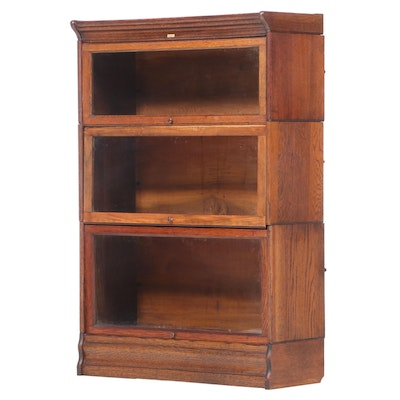 Lundstrom Oak Sectional Barrister's Bookcase, Early 20th Century