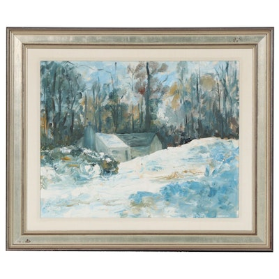 Winter Landscape Oil Painting