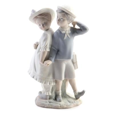 "Lladró ""Puppy Love"" Matte Porcelain Figurine, 1971–1974"