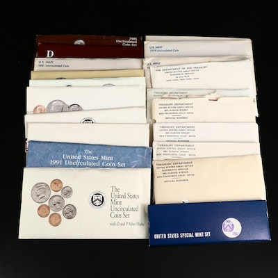 Twenty U.S. Mint Uncirculated and Special Mint Sets