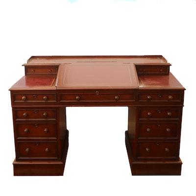 "Hekman ""Charles Dickens Heritage"" Replica Mahogany Desk"