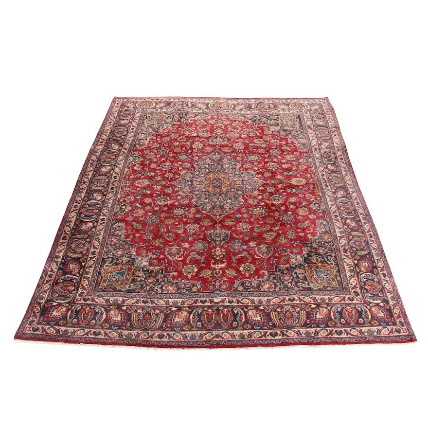 9'6 x 13'1 Hand-Knotted Persian Kashmar Khorasan Rug, 1970s