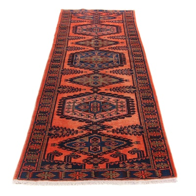 3'6 x 11'9 Hand-Knotted Persian Viss Mahal Rug Runner, 1970s