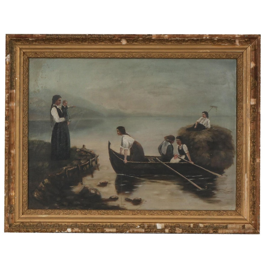 19th Century American School Oil Painting
