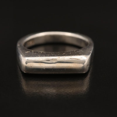 Sterling Silver Rectangular Top Ring