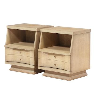 Pair of Unagusta Furniture Mid Century Modern Blondewood Nightstands