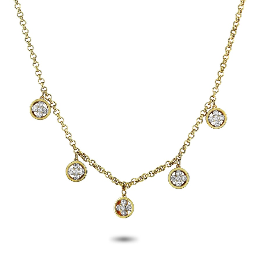 14K Yellow Gold 1.01 ct Diamond Necklace