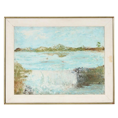 "Augusta Beck Oil Painting ""The Lake"""