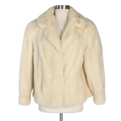 Blonde Mink Fur Cropped Jacket from Cole of Columbus, Vintage
