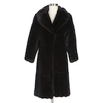 Blackglama Dark Ranch Mink Fur Coat with Shawl Collar