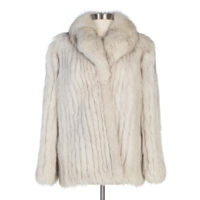 Saga Fox Corded Fox Fur Jacket