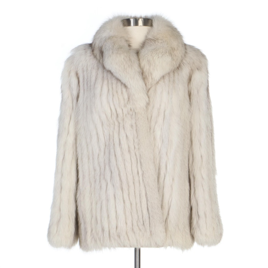 Saga Fox Corded Fox Fur Jacket