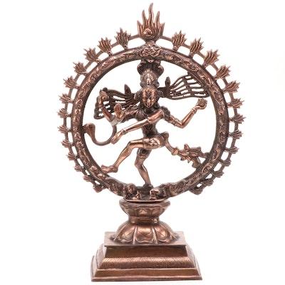 "Hindu ""Nataraj Shiva"" Lord of Dancers Cast Spelter Sculpture"