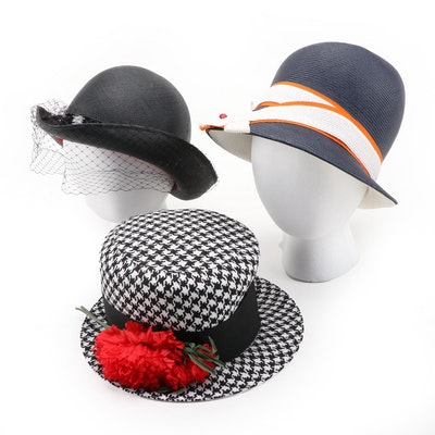 Chesterfield, Shillito's and Importina Cloche and Bowlers Hats with Hat Box