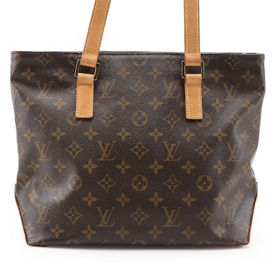 Louis Vuitton Cabas Piano Shoulder Bag in Monogram Canvas and Vachetta Leather