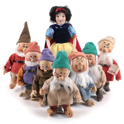 "Ashton-Drake Galleries ""Snow White and the Seven Dwarfs"" Porcelain Dolls"