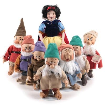 "Ashton-Drake Galleries ""Snow White and the Seven Dwarfs"" Porcelain Dolls"