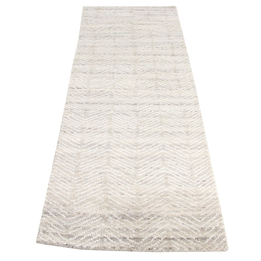 2'9 x 8'9 Hand-Knotted Indo Moroccan Runner, 2010s