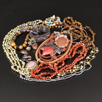 Jewelry Selection Including Carolyn Pollack, Heidi Daus and Sterling