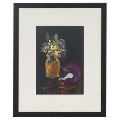 "George Braque Color Lithograph for ""Verve,"" 1955"