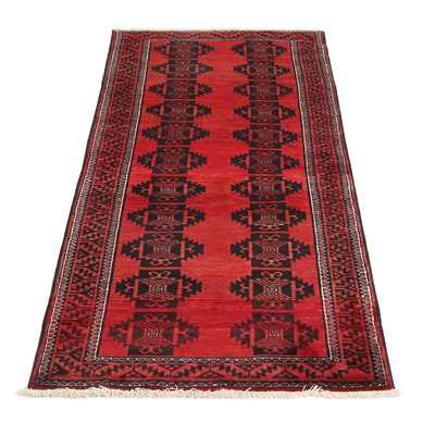 2'11 x 6'4 Hand-Knotted Persian Balouch Rug, 1970s