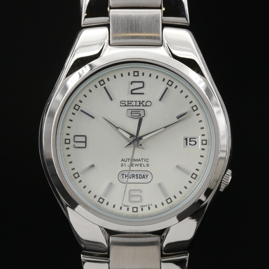 "Seiko ""5"" SNK619 Stainless Steel Automatic Wristwatch"