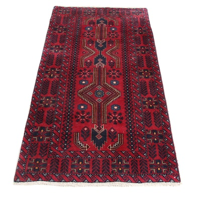 2'8 x 5'9 Hand-Knotted Persian Afshar Rug, 1970s