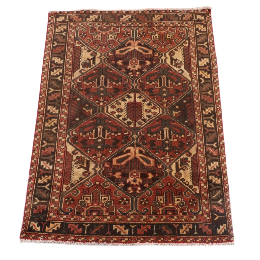 4'1 x 6'4 Hand-Knotted Caucasian Shirvan Wool Rug