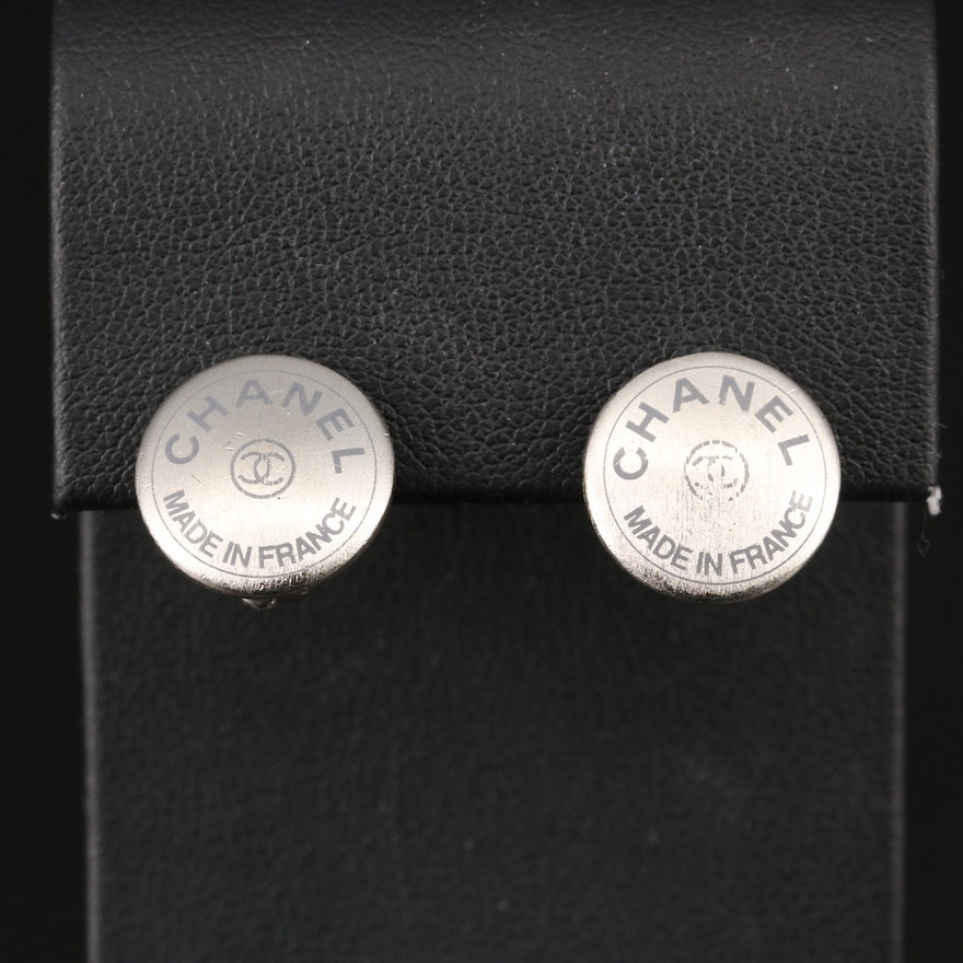Chanel Autumn 1999 Collection Button Earrings