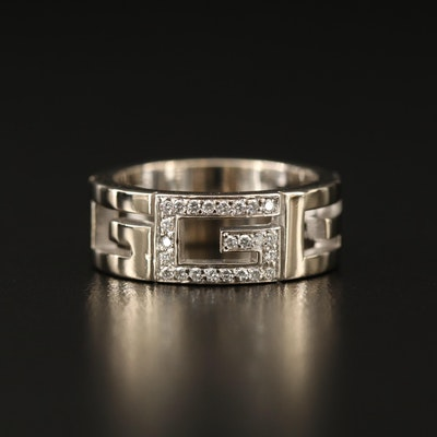 Gucci 18K Diamond G Band