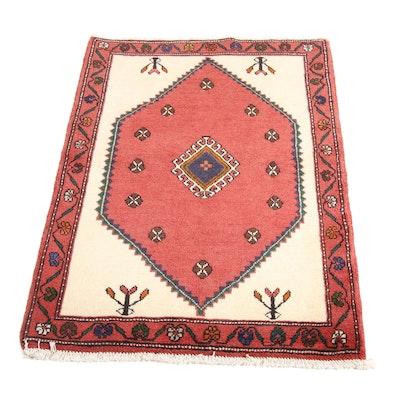 2'8 x 4'1 Hand-Knotted Persian Bijar Rug, 1970s