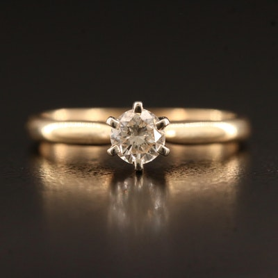14K 0.31 CT Diamond Solitaire Ring