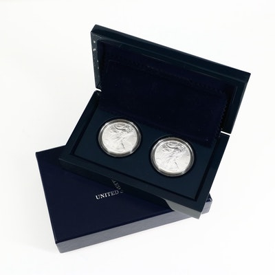U.S. Mint American Silver Eagle $1 Two-Coin Set