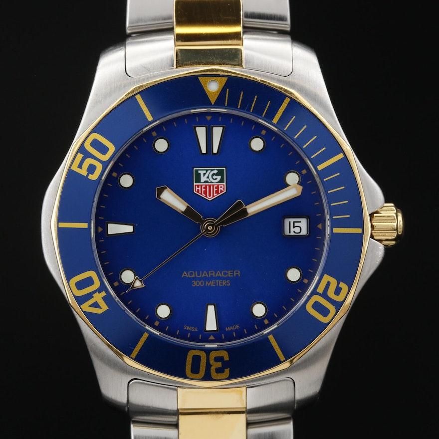 TAG Heuer Aquaracer Two Tone Stainless Steel Quartz Wristwatch