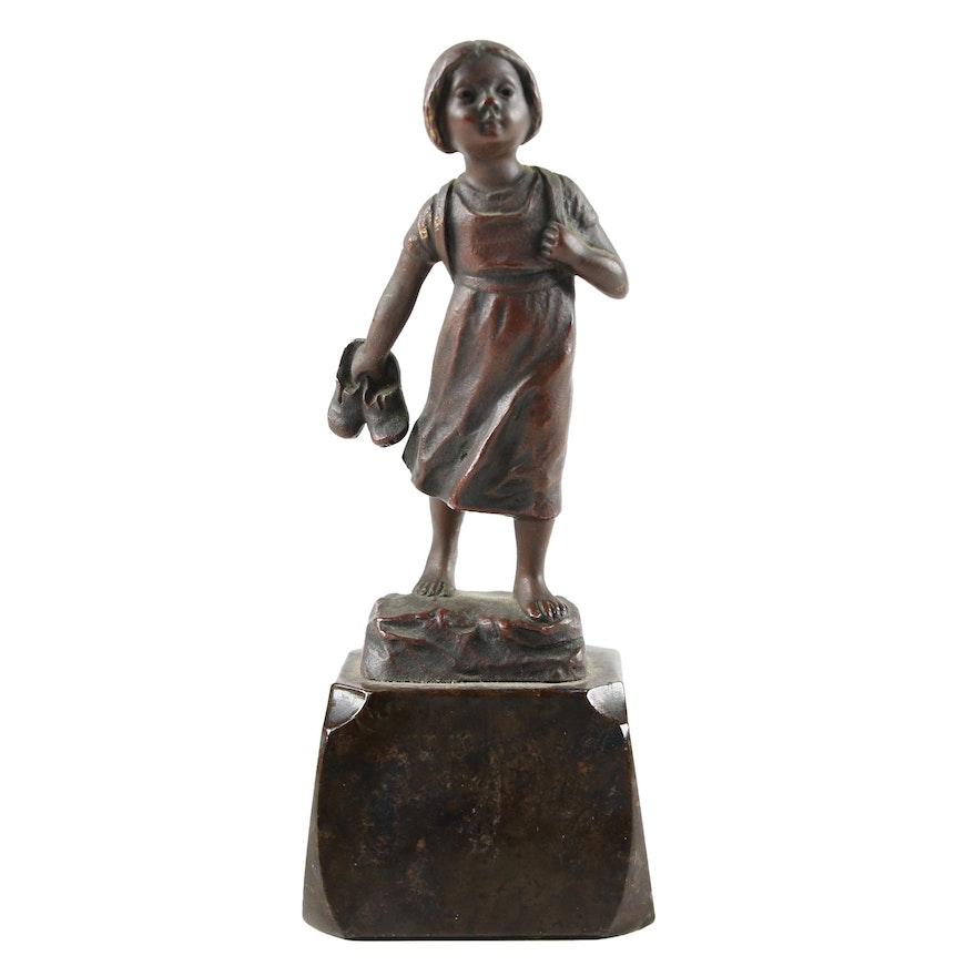 Bronze Sculpture after Julius Schmidt-Felling