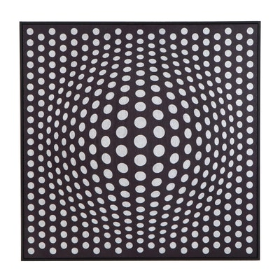 "deSanto Op Art Acrylic Painting ""Perfect Illusion XXI"""