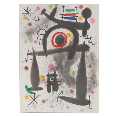 """Photolithograph after Joan Miró for """"Derrière le Miroir"""", 1971"""