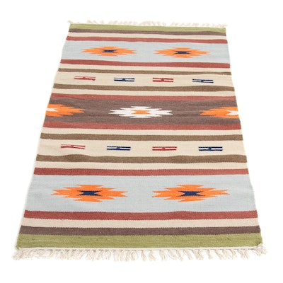 3' x 5'6 Handwoven Indo Turkish Kilim Rug, 2000s