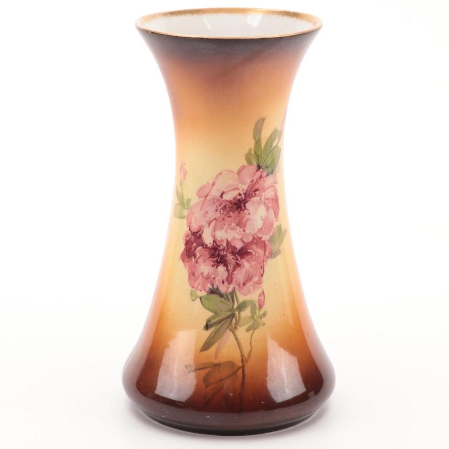 "Warwick ""Ioga"" Hand-Painted Ceramic Vase, Early to Mid-20th Century"