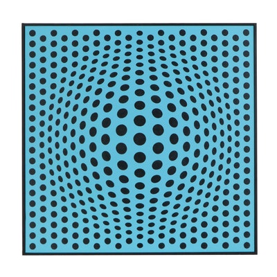 "deSanto Op Art Acrylic Painting ""Perfect Illusion XX"""