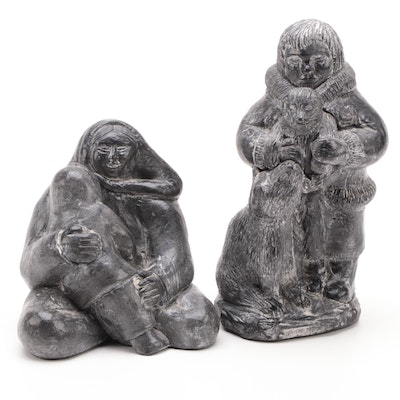 Canadian Inuit Figures by The Wolf Sculptures