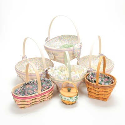 Longaberger Woven Wood Easter Holiday Basket Collection