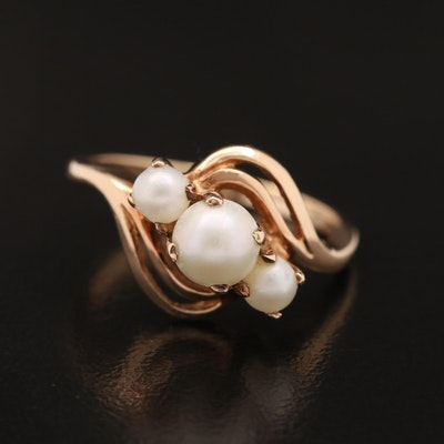 10K Pearl Bypass Ring