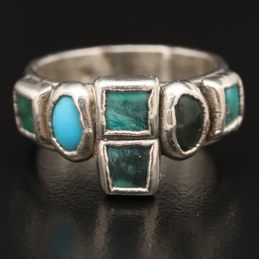 Fine Silver Turquoise Ring