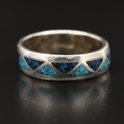Sterling Silver Resin Band