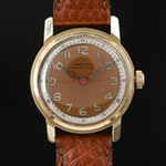Vintage Croton Aquamedico 14K Gold Stem Wind Wristwatch