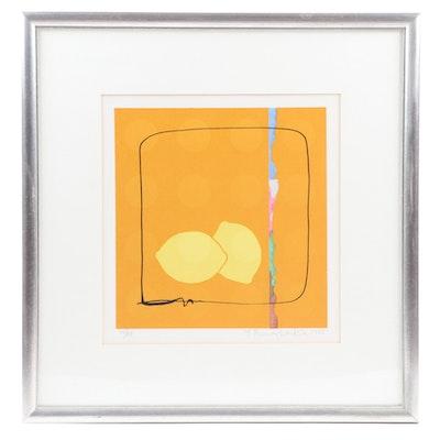 "Yoshisuke Funasaka Lithograph ""Lemons,"" 1975"