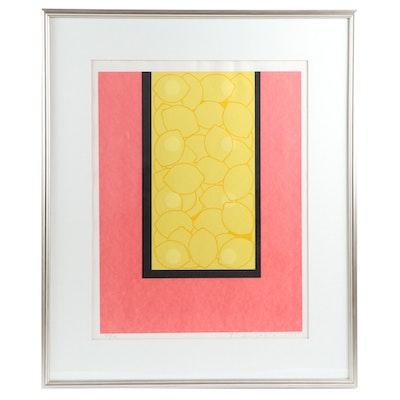 Yoshisuke Funasaka Lithograph of Lemons, 1975